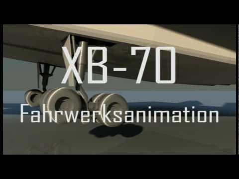 XB-70 Fahrwerkanimation