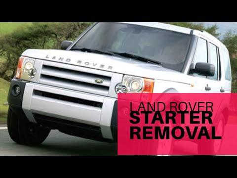 Land rover starter removal