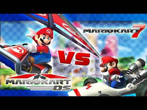 Mario Kart 7 vs Mario Kart DS - Track Comparison! - YouTube