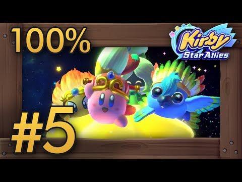 Kirby Star Allies (4 Players) 100% Co-Op Walkthrough Part 5 | Final Boss & Secret Level