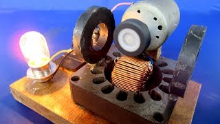 Free energy DC motor generator with Magnets - Easy diy project experiment 2018