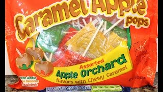 Starburst Halloween Mix And Tootsie: Green, Golden Delicious & Macintosh Caramel Apple Pops Review