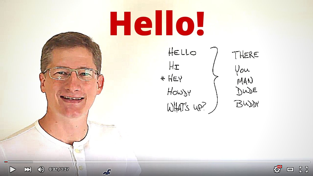 5 ways to say hello in english youtube 5 ways to say hello in english kristyandbryce Image collections