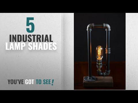 Top 10 Industrial Lamp Shades [2018 ]: Minimalist Industrial Steampunk Desk Lamp Wood Base w Iron