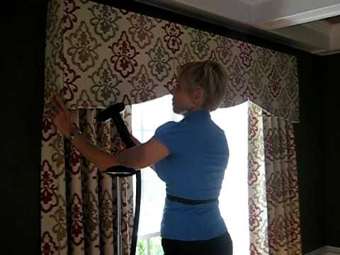 E.S. Drapery & Design window treatment installation