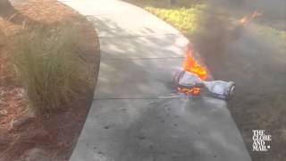 Alabama man's hoverboard bursts into flames