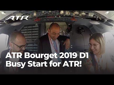 ATR Bourget 2019 D1 - Busy Start for ATR!