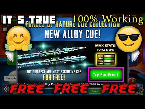 8 Ball Pool - Allow Cue Trial ( Free Cue 2018 ) 😍 Super Aim