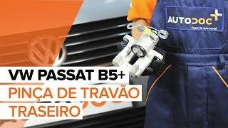 Como substituir uma pinça de travão traseirono VW PASSAT B5+ [TUTORIAL]