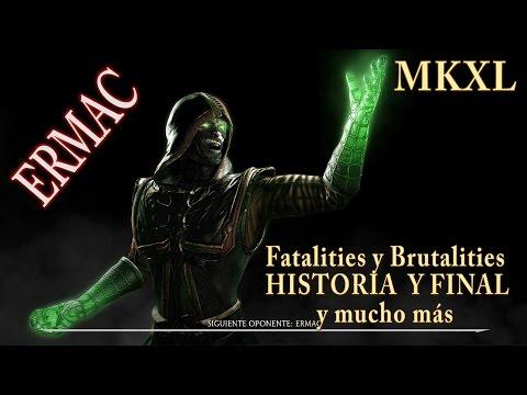 Mortal Kombat XL: ERMAC / Tutorial de Fatalities y Brutalities de escenario / HISTORIA Y FINAL