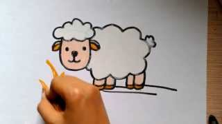 How to Draw Sheep - Step by Step