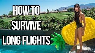 Video TRAVEL TIPS: 11 TIPS ON HOW TO SURVIVE LONG FLIGHTS download MP3, 3GP, MP4, WEBM, AVI, FLV Juli 2018