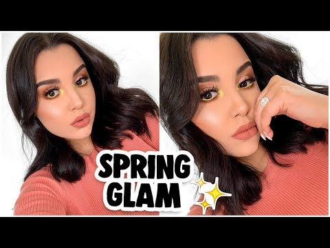 QUICK & EASY SPRING GLAM MAKEUP TUTORIAL 2019! | MakeupByAmarie thumbnail