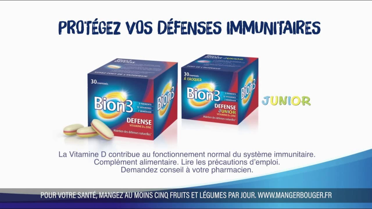"""Musique de la pub Bion3 Senior et Bion3 Defense """"protégez vos défenses immunitaires""""  2021"""