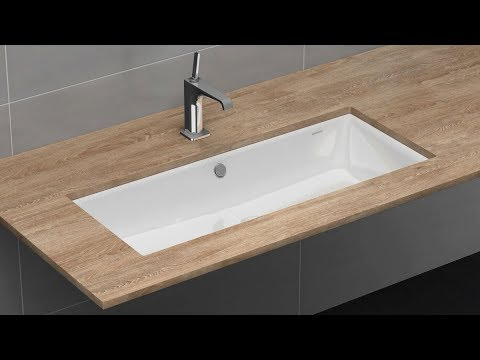 undercounter washbasin with overflow installation puro silenio and classic kaldewei youtube. Black Bedroom Furniture Sets. Home Design Ideas