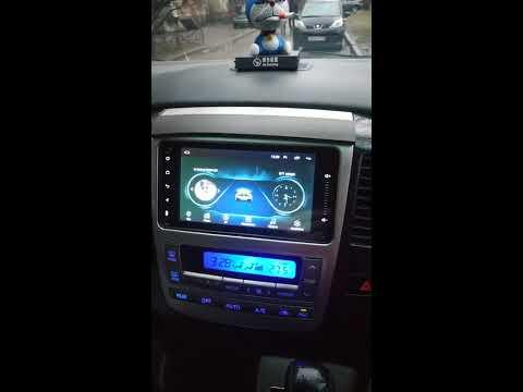 Китайская магнитола 2 дин на Toyota Alphard 1 поколение дорестайл со штатным усилителем.(часть 4)