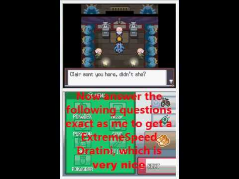 pokemon heart gold dragons den questions answers