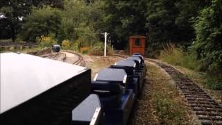 Tango taking the BR Blue Pullman and my new guards van around Ravensprings