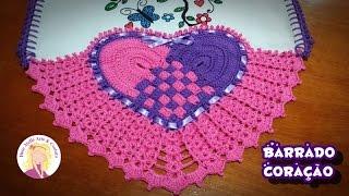Barrado de Coração Entrelaçado Crochê