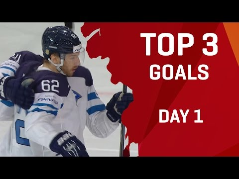 Top 3 Goals - Day 1 - #IIHFWorlds 2017 - 동영상