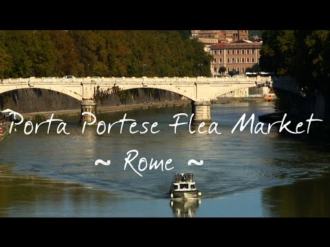 Best Flea Market in Rome Video - Porta Portese (HD)