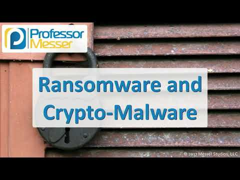 Ransomware And Crypto-Malware - CompTIA Security+ SY0-501 - 1.1