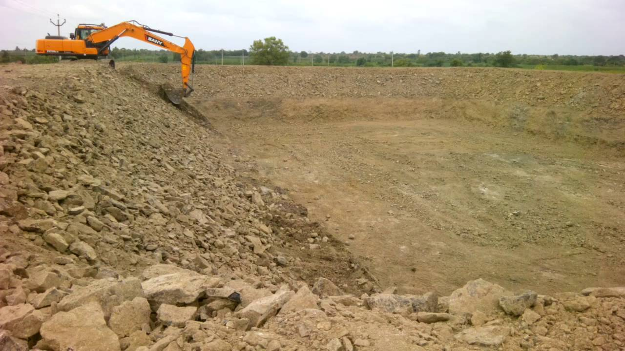Farm pond excavation youtube for Design of farm pond ppt