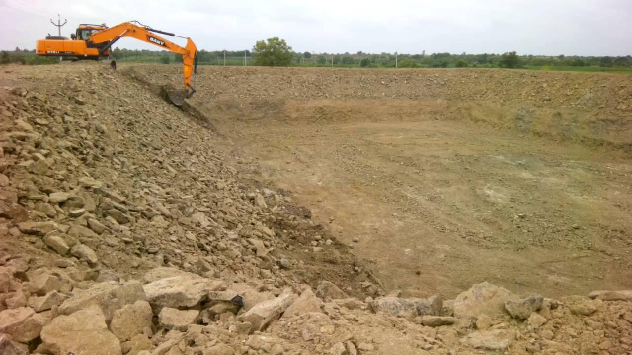 Farm pond excavation youtube for Design of farm pond pdf