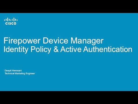 Managing Authentication and User Discovery with Firepower Device Manager