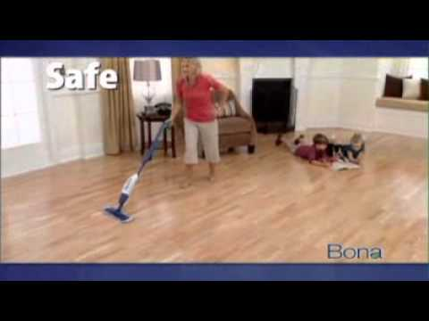 Bona Hardwood Floor Cleaning Spray Mop Youtube