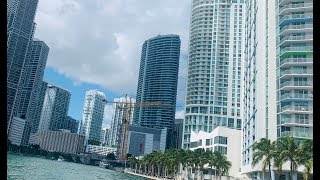 🔴 На яхте по Майами 🔴 каналы и Miami river down town  with friends 14.10.2019