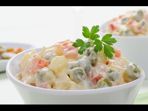 Russian Salad Recipe - How to Make a Quick Yummy Russian Salad