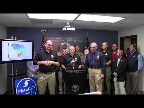 Gov. Henry McMaster, State Officials Hold Hurricane Irma Briefing, Give Evacuation Update