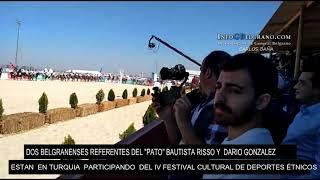 BAUTISTA RISSO Y DARIO GONZALEZ REFERENTES DEL PATO ESTÁN EN TURQUIA