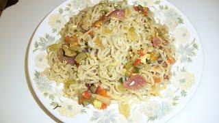 Ramen Noodles And Bacon