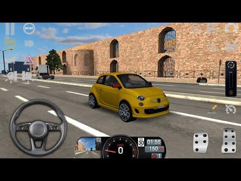 Driving School Sim - Fiat 500 - Araba Oyunları - Araba Sürme Oyunu - Araba Oyunu - Araba Sürme