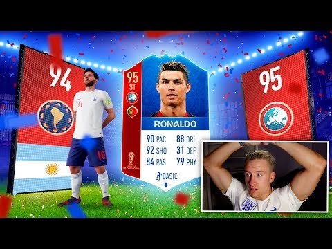 WORLD CUP PACK KING!! MESSI & RONALDO & 2 ICONS IN A PACK!!