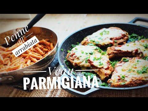 repas-à-l'italienne-🇮🇹-veau-parmigiana-🧀-et-penne-all'-arrabiata,🍝-🇮🇹