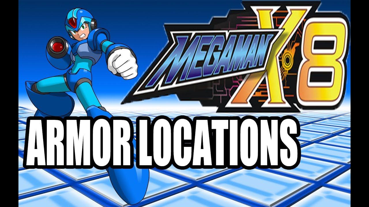 Megaman X8 Armor Locations