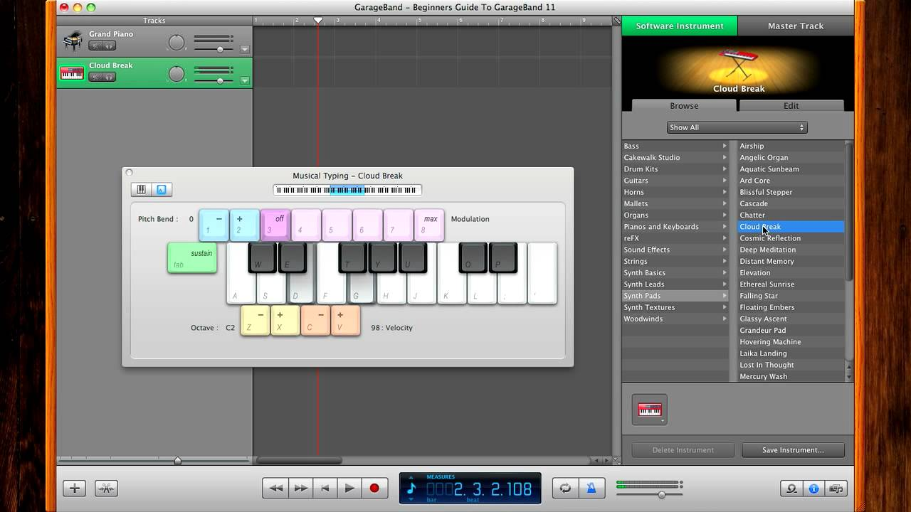 beginners guide to garageband part 1 youtube rh youtube com GarageBand Instruments garageband user guide download
