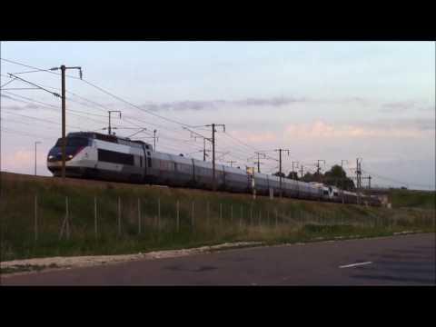 Les TGV sur la ligne Paris/Marseille