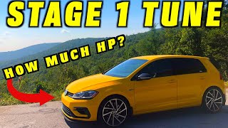 How Much Horsepower Does a Tune Add? ~ Stage 1 Tuning Golf R