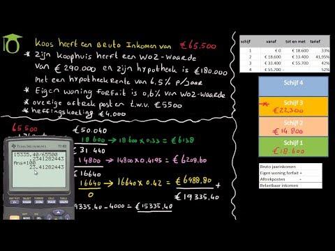 Berekenen inkomstenbelasting box 1 - (economie)