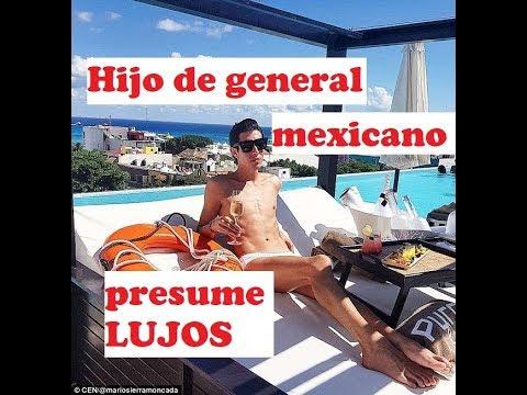 Presume Vida De Lujos, Hijo De Un General Mexicano.