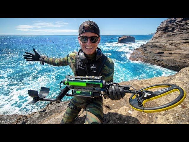 Scuba Diving One of Hawaiis Most Dangerous Cliff Side for Sunken Treasure! (Spitting Caves)