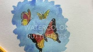 How to draw a butterfly - watercolor butterfly part 1