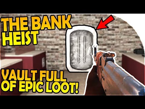 NEW TOWN BANK HEIST - BANK VAULT FULL OF EPIC LOOT - 7 Days to Die Alpha 16 Gameplay Part 44