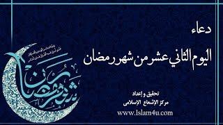 دعاء اليوم الثاني عشر من شهر رمضان بصوت السيد امير الحسيني