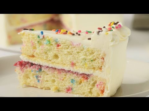 Sprinkle Cake Recipe Demonstration - Joyofbaking.com