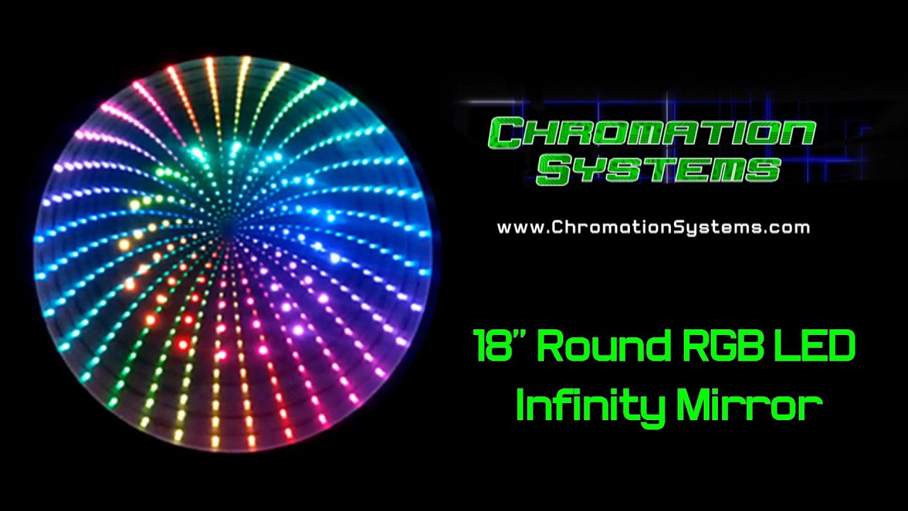18 Quot Round Rgb Led Infinity Mirror Diy Youtube